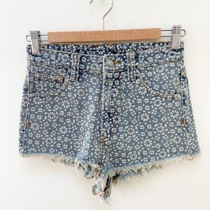somedays lovin REVOLVE patterned jeans shorts 24